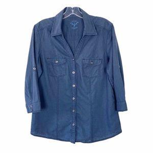 Sonoma Chambray Button Down Shirt Size M